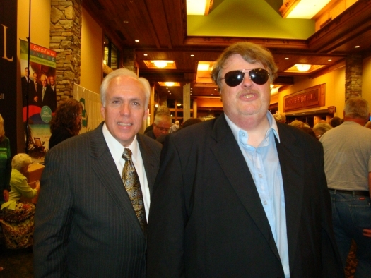 Paul with Mark Trammell of the Mark Trammell Quartet